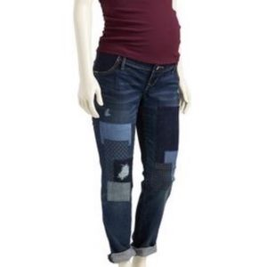 Old Navy••Patchwork side panel Maternity jeans